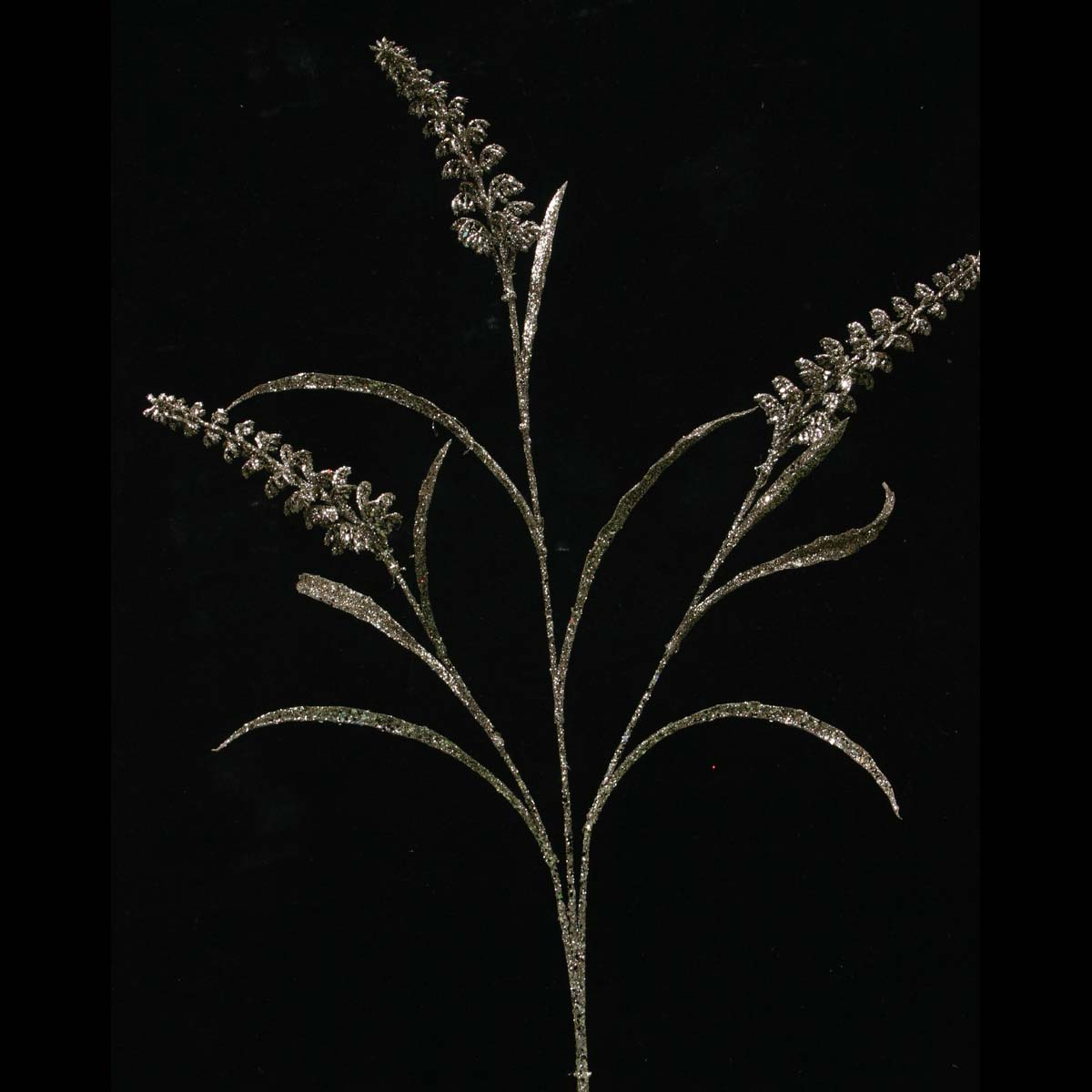 "R5025 BZ GLITTER GRASS BUD SPRAY X3 BRONZE 31"" EACH *70sp"