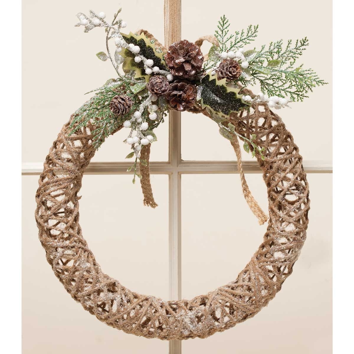 "12"" Glitter Chic Twine Wreath"