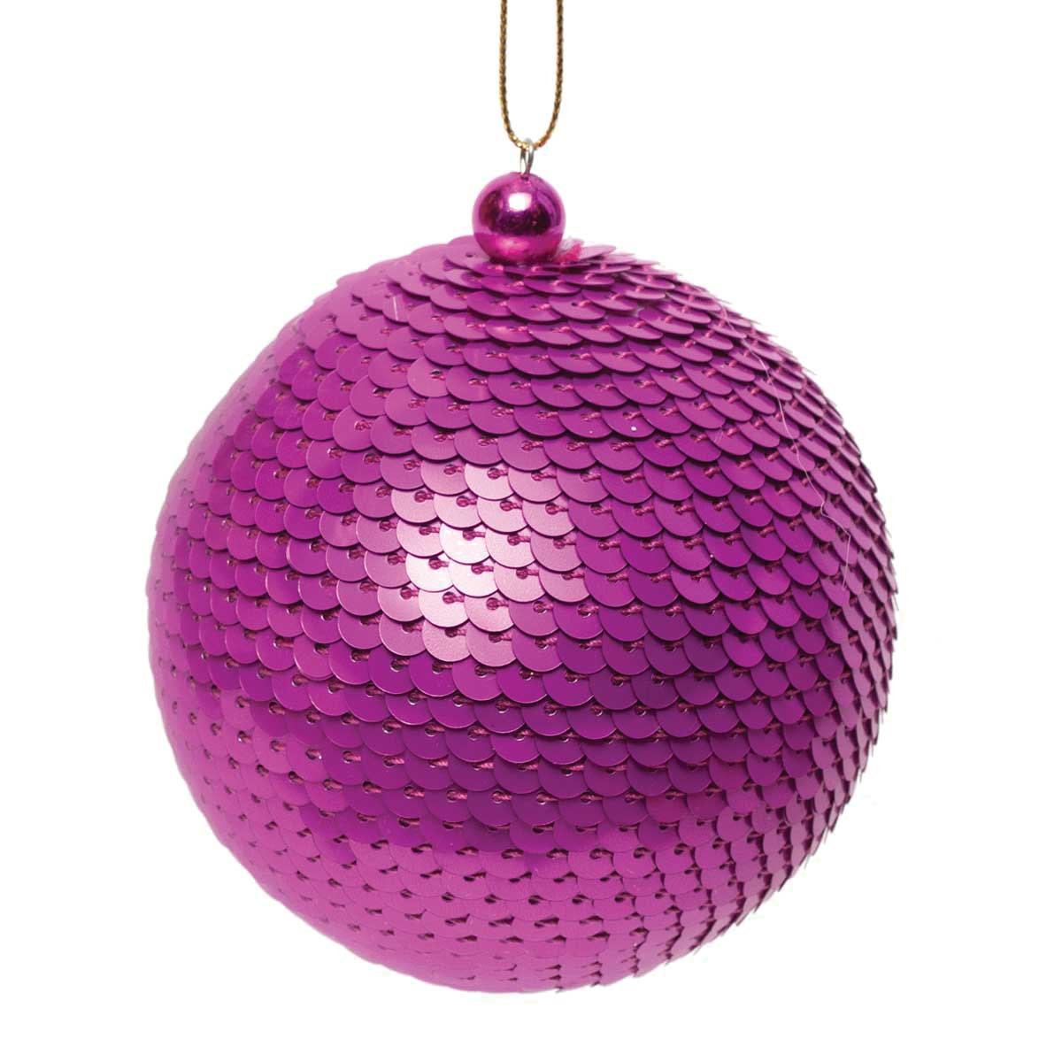 SEQUIN BALL ORNAMENT MAGENTA/PINK/PURPLE