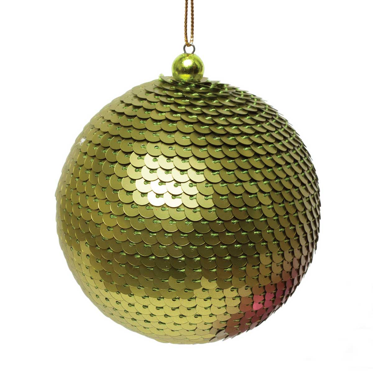 SEQUIN BALL ORNAMENT GREEN