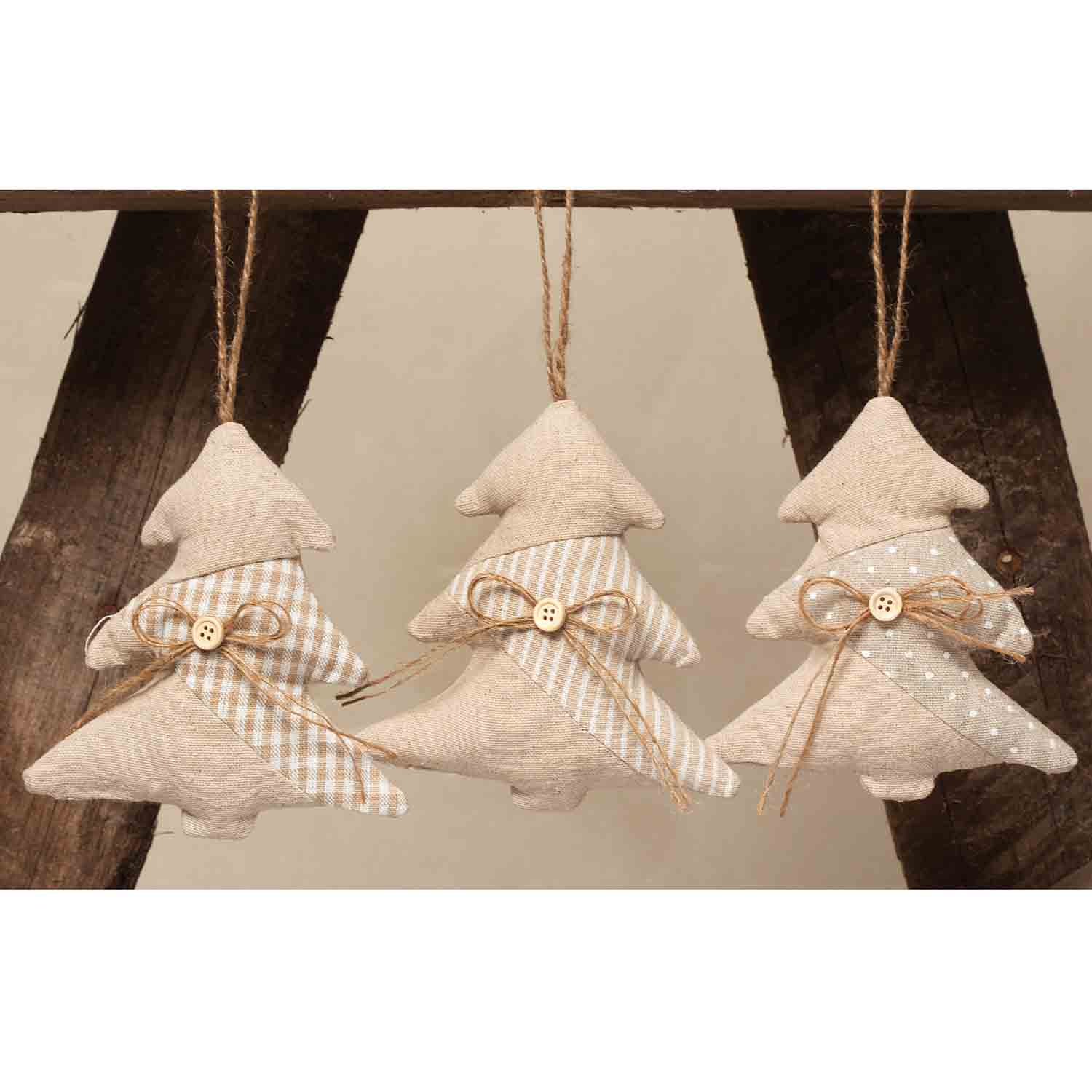 "CHANTILLY TREE ORNAMENT 5"" BEIGE/WHITE *70sp"
