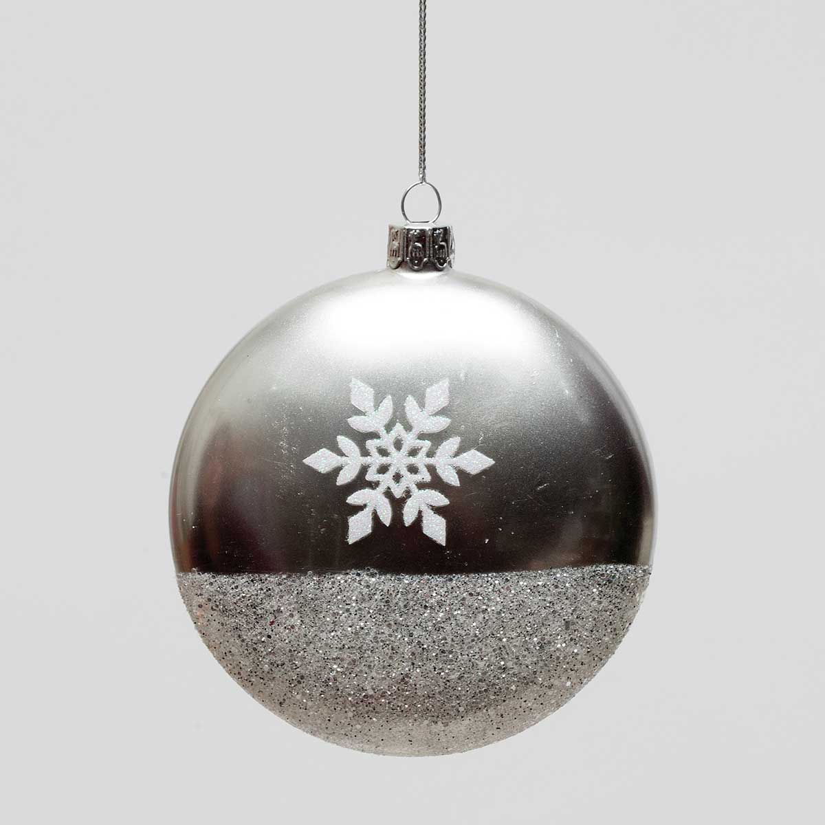 Snowflake Glass Ball Ornament