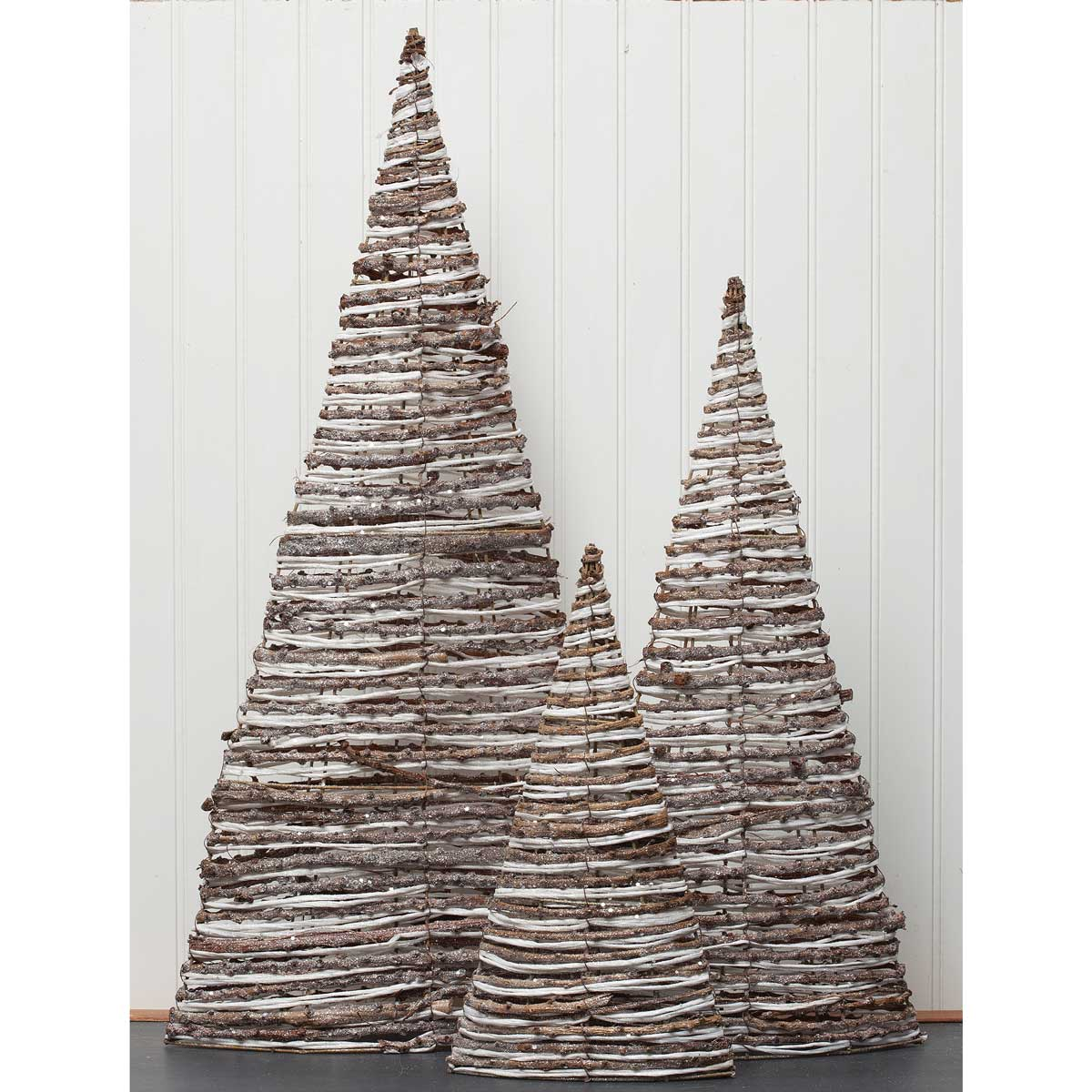 SOUTHERN CHIC TWIG CONE TREE SET OF 3