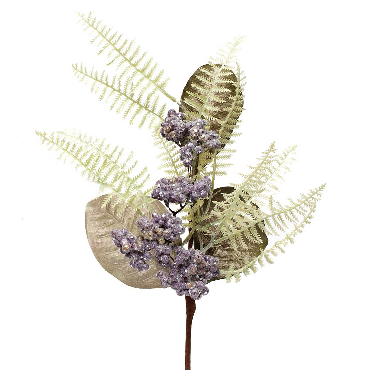"AMETHYST FERN BERRY LEAF PIK 22"" *70sp"