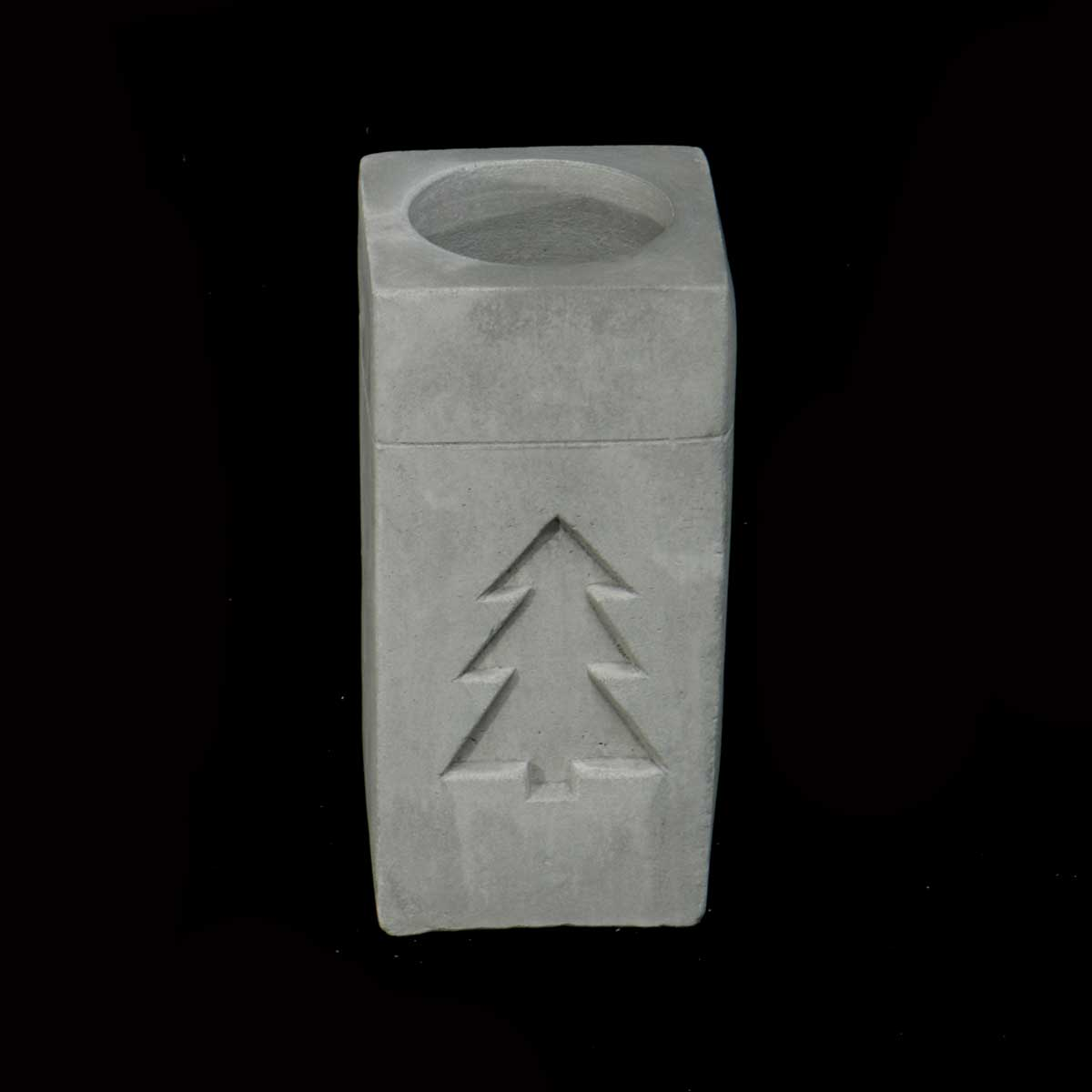 Square Concrete Pillar Votive