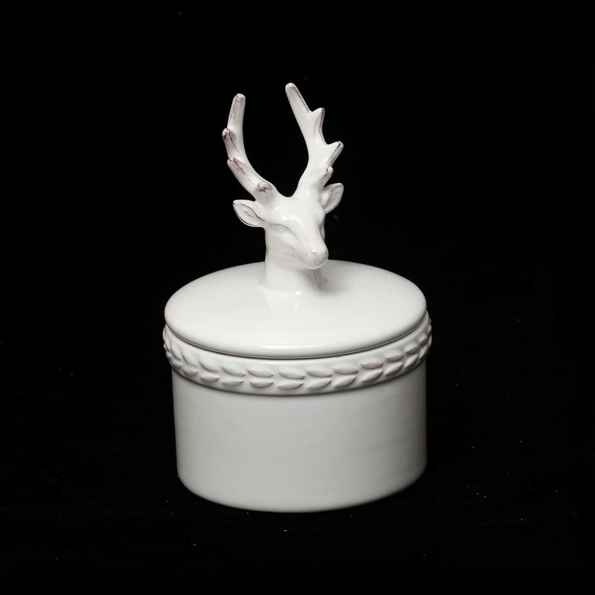 DEER CANDY DISH WITH LID v22