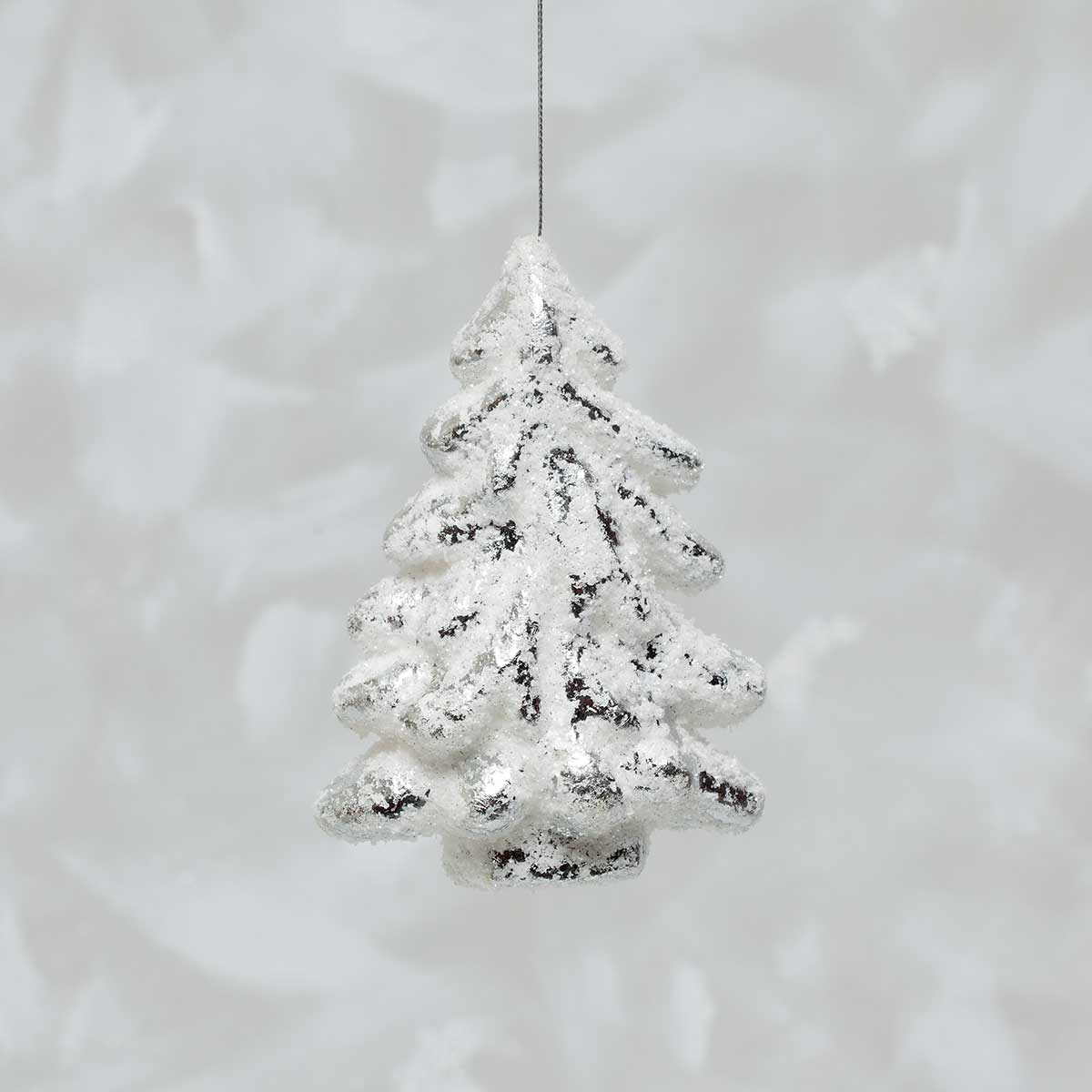 TREE WITH SNOW ORNAMENT 6""