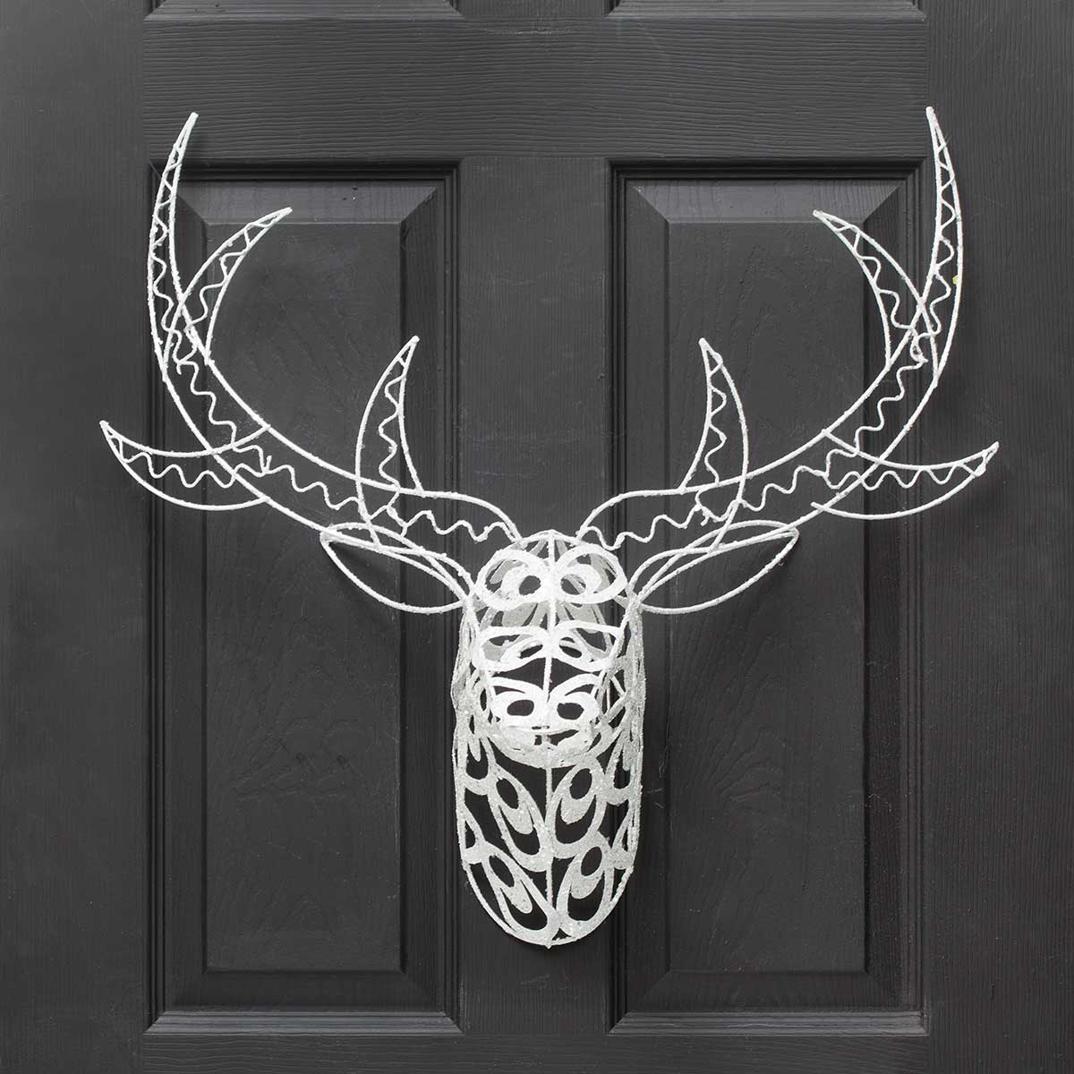 METAL SCROLL DEER HEAD