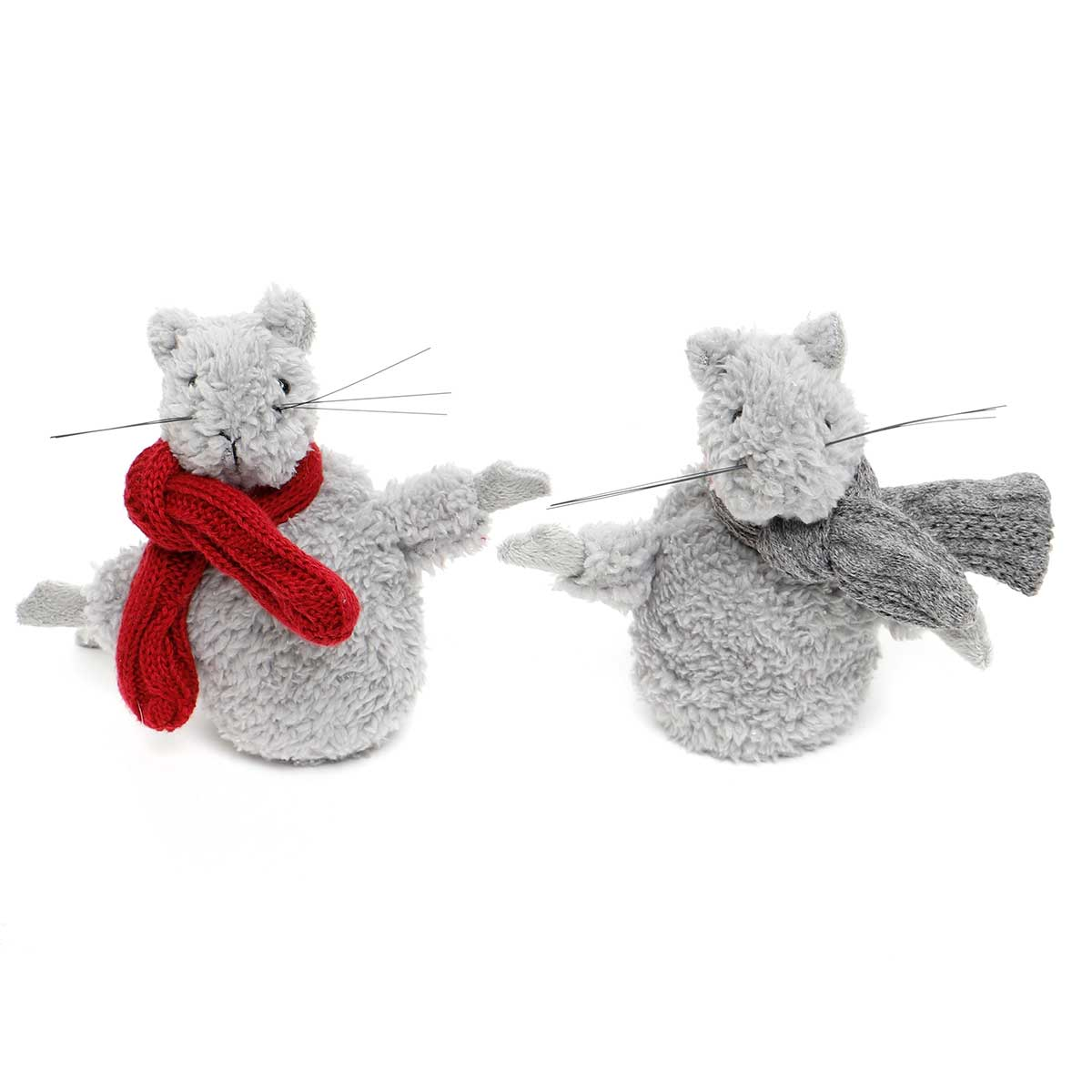 CHRISTMAS MOUSE WITH SCARF 2 ASSORTED