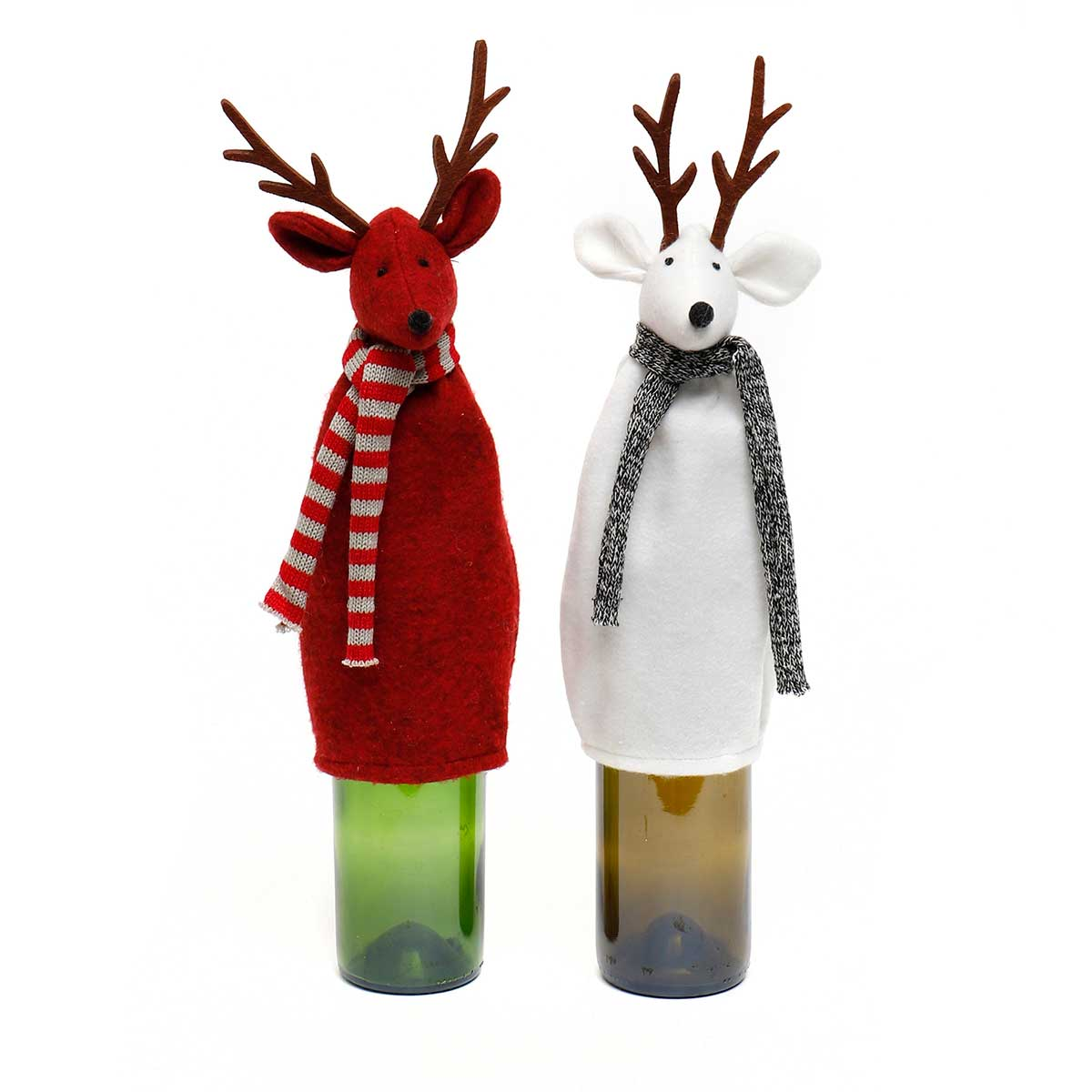 DEER BOTTLE COVER WITH SCARF