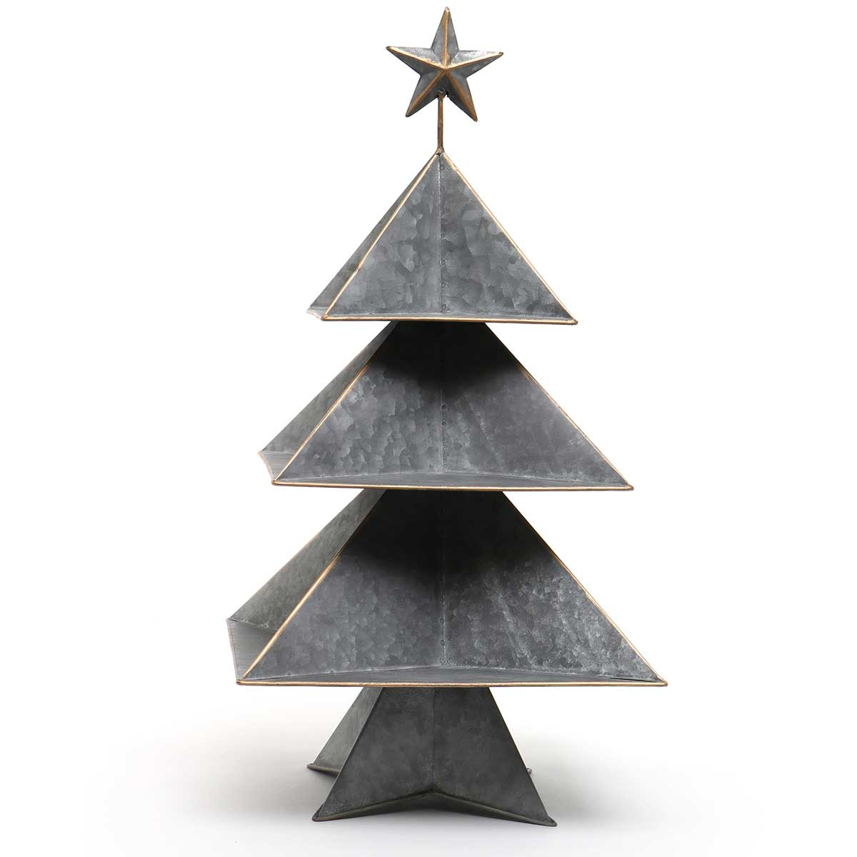 3 TIERED METAL TREE WITH STAR AND