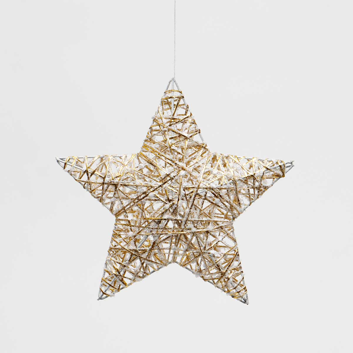 GALA WHITE/GOLD 3-D STAR ORNAMENT AMENT