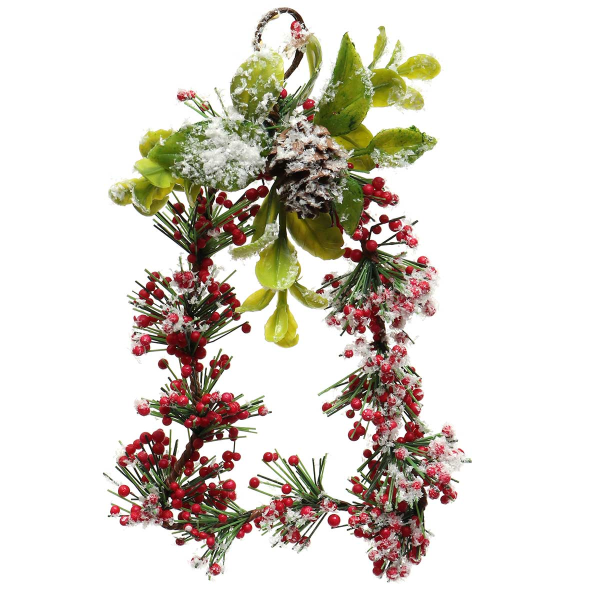 WINTER RED BERRY BELL-SHAPED WREATH ORN