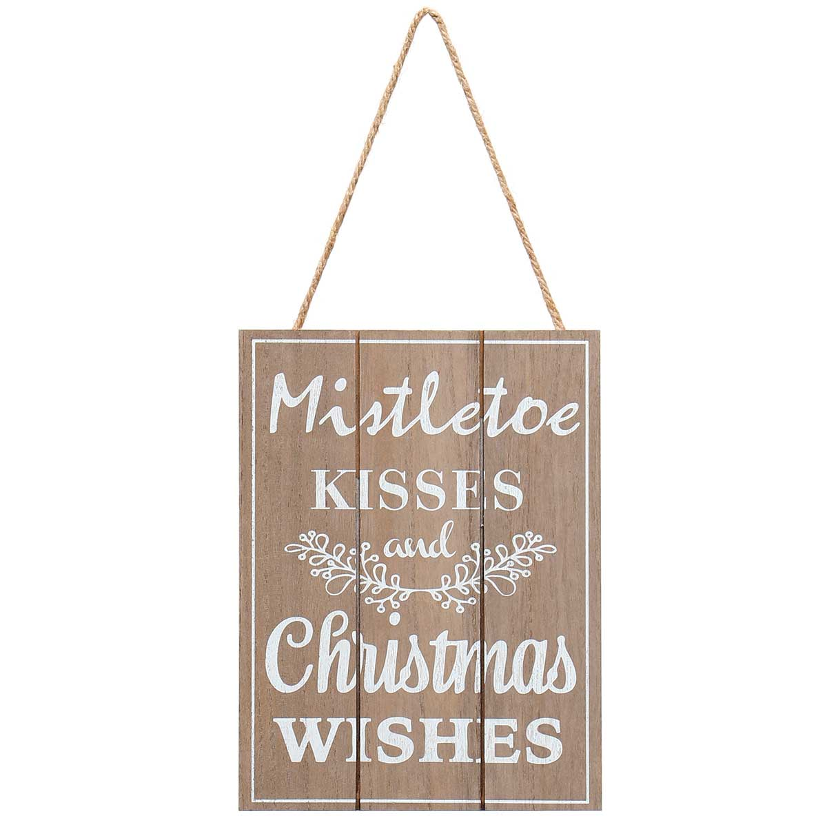 """MISTLETOE KISSES"" NATURAL/WHITE"