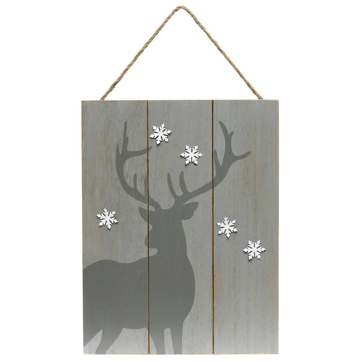 GREY DEER WOOD SIGN