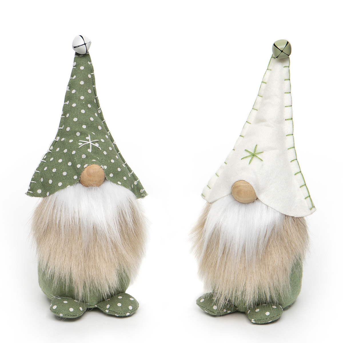 PINDOT GNOME WITH JINGLE BELL, SNOWFLAKE