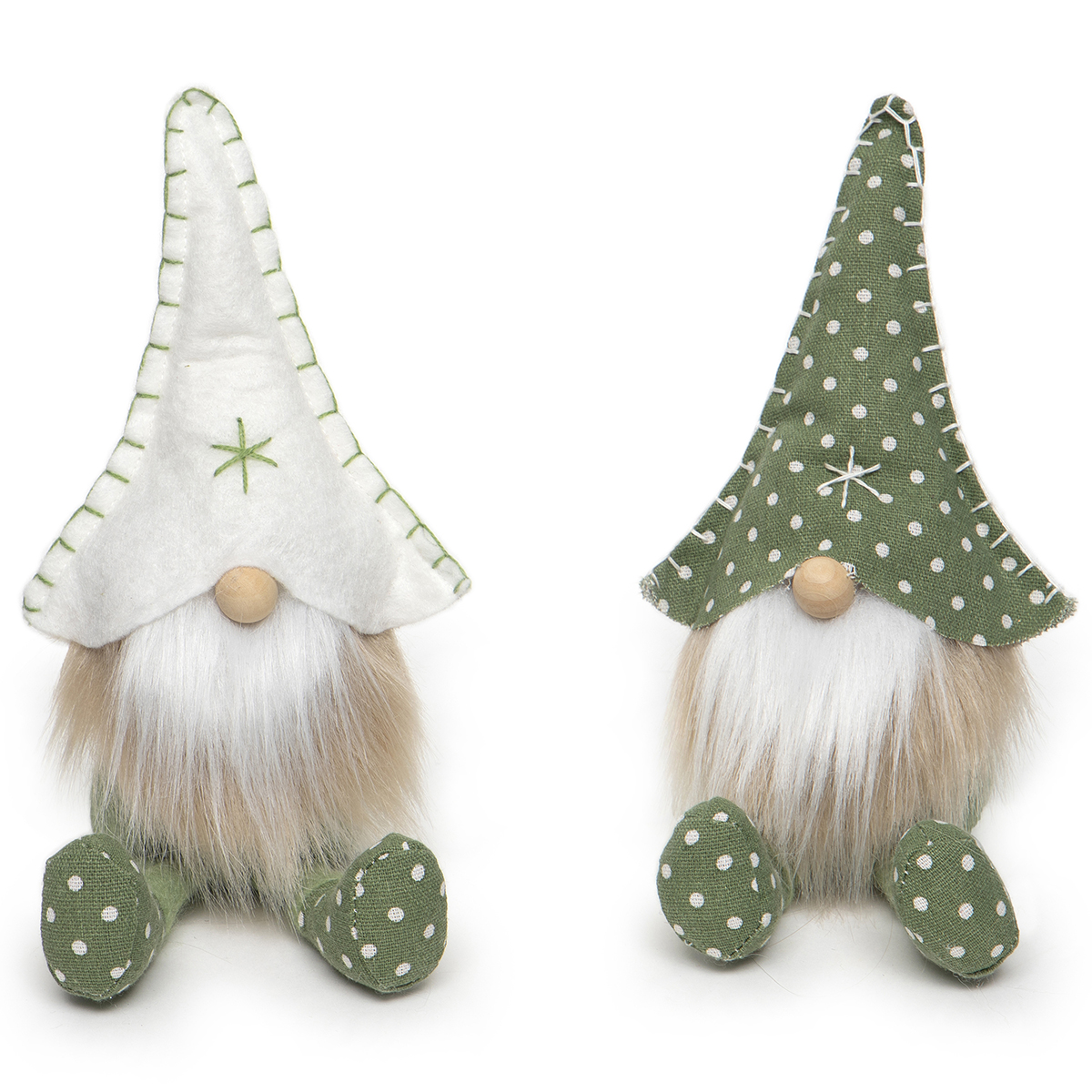 PINDOT GNOME WITH SNOWFLAKE, STITCHING,