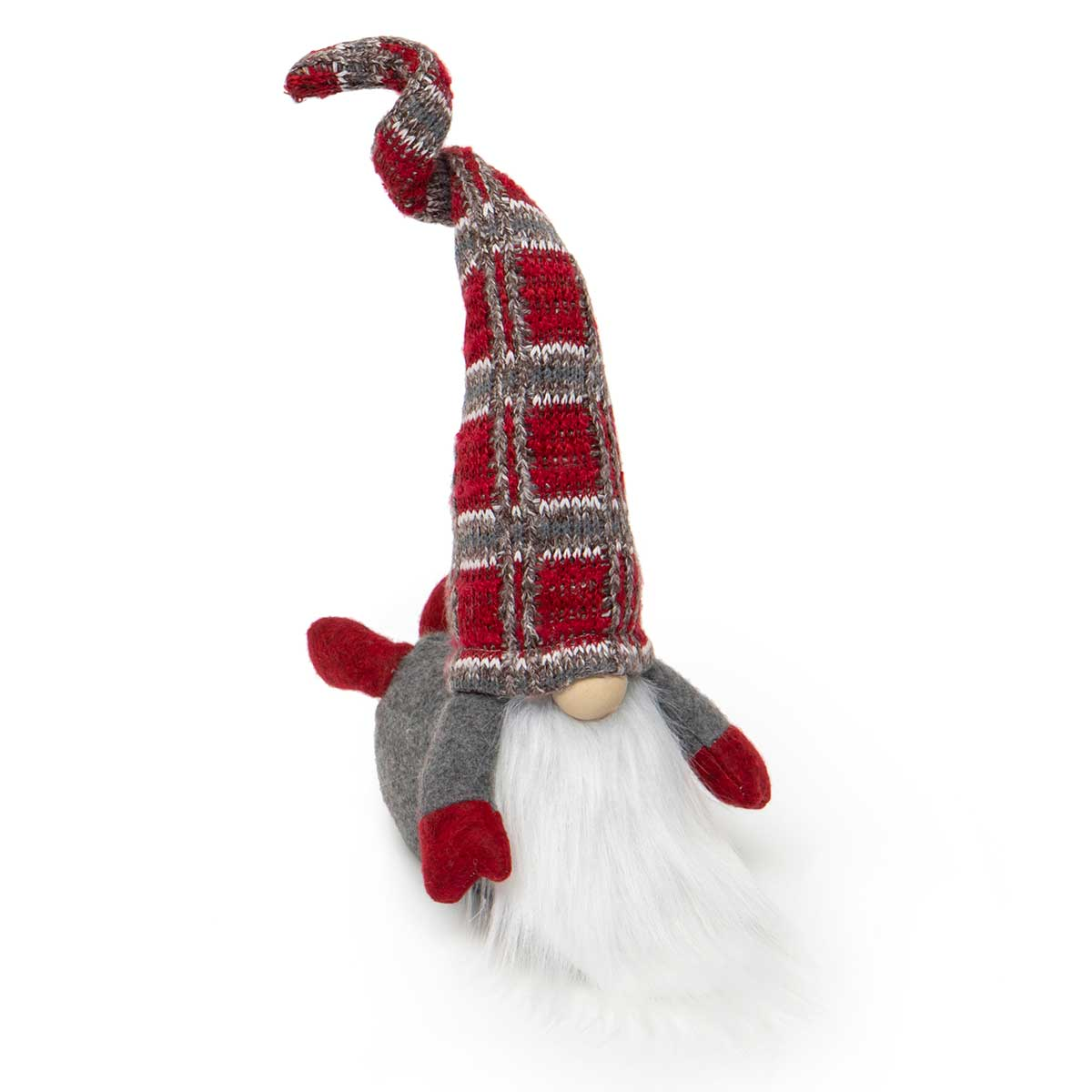 BELLY BUSTER GNOME WITH WIRED RED/GREY