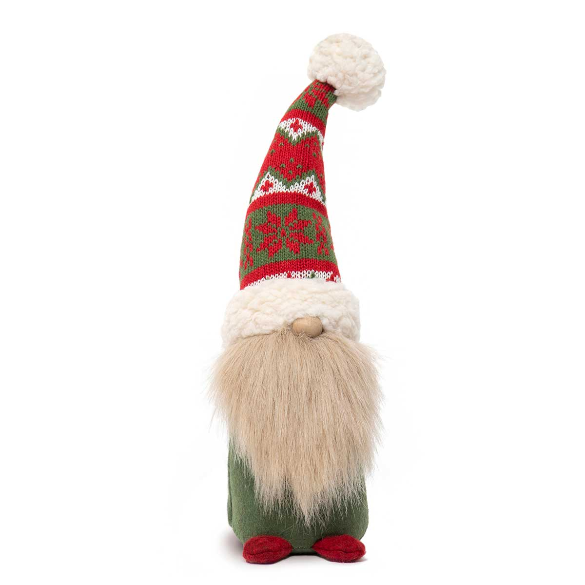 GNOME WITH WIRED RED/GREEN SWEATER HAT,