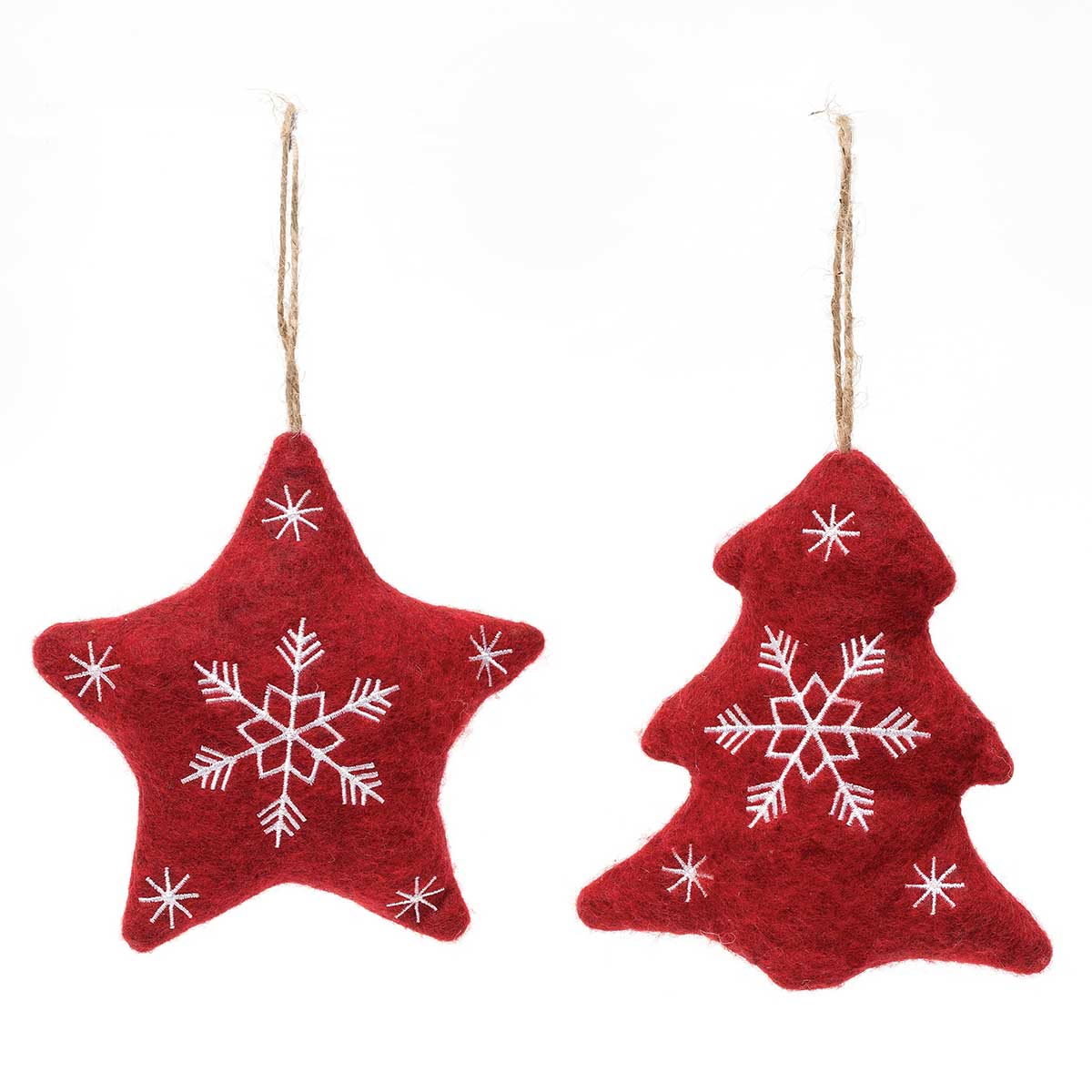 STAR & TREE PLUSH ORNAMENT
