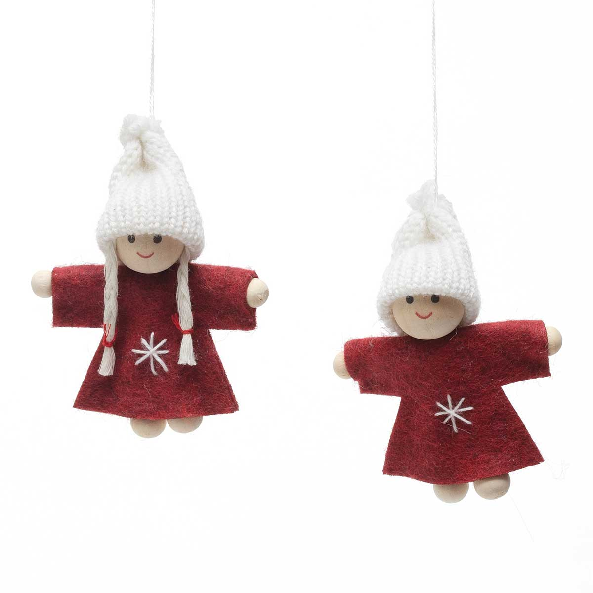 RED/WHITE BOY & GIRL ORNAMENT