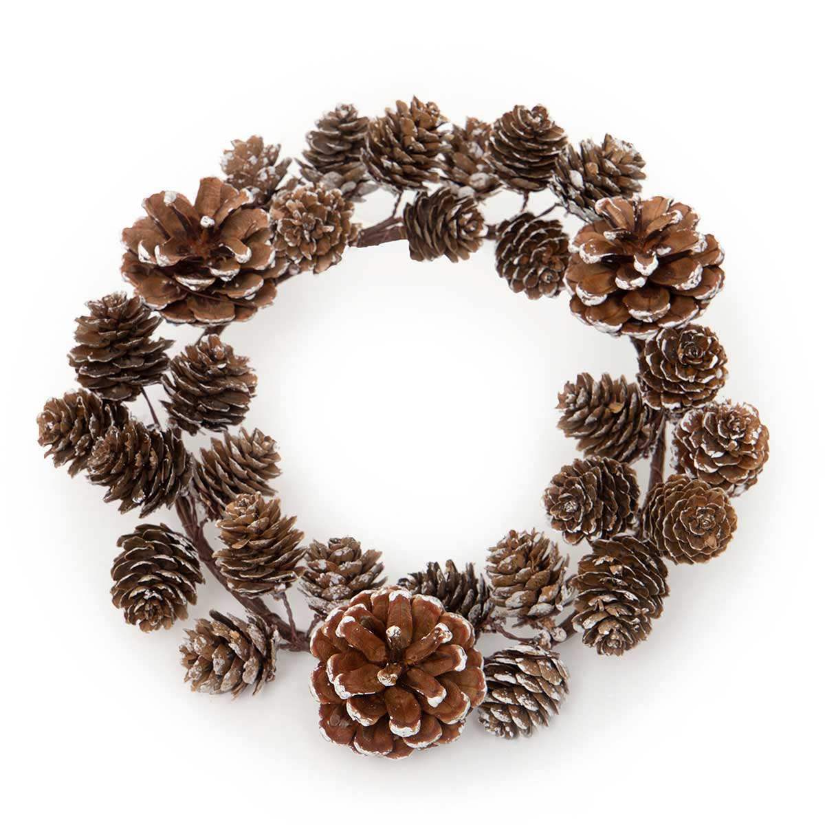SNOWY PINECONE MINI WREATH LARGE