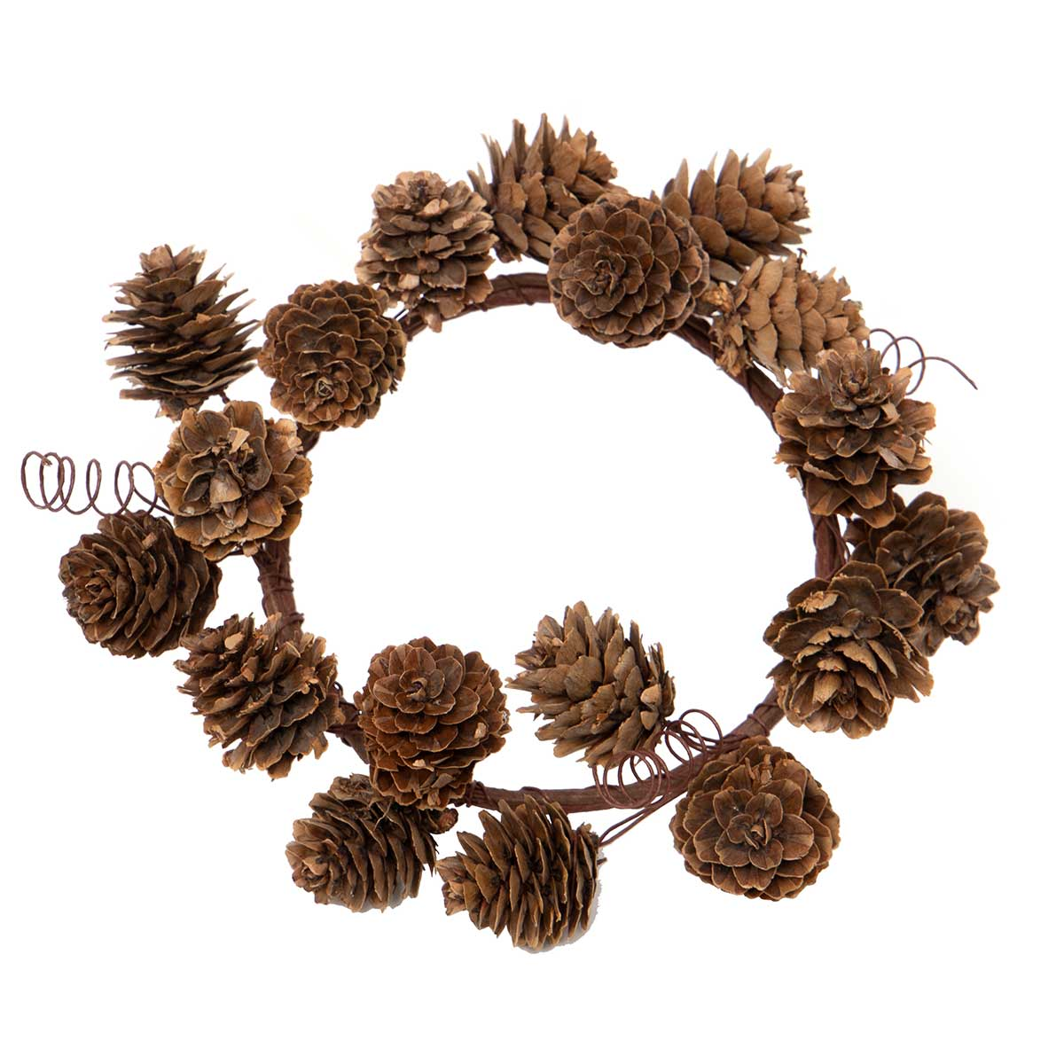 NATURAL PINECONE CANDLE RING