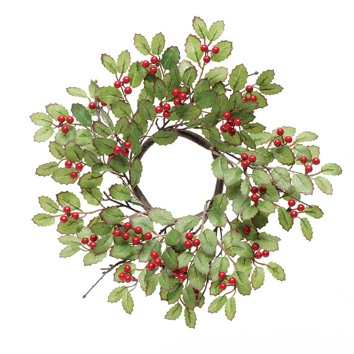 HOLLY MINI WREATH WITH RED BERRIES