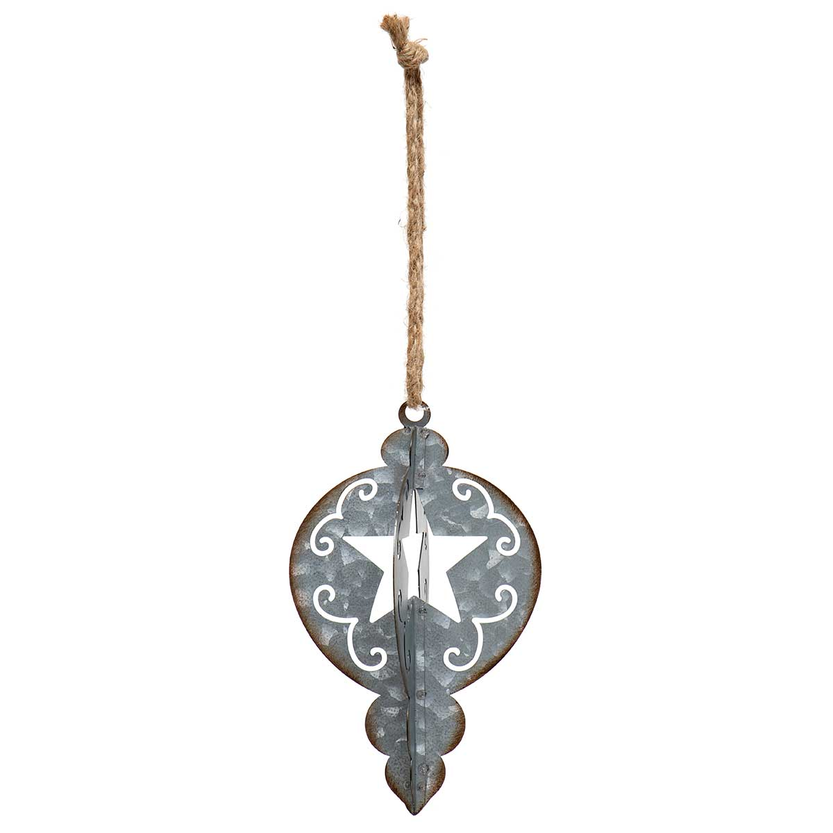 METAL KISMET ORNAMENT WITH STAR CUTOUT