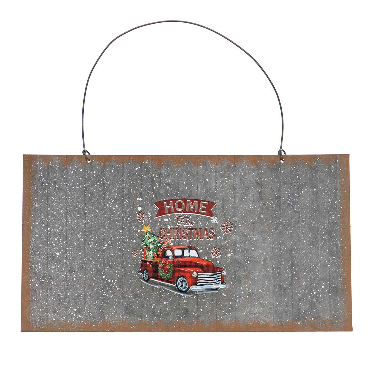 METAL TRUCK RECTANGULAR SIGN