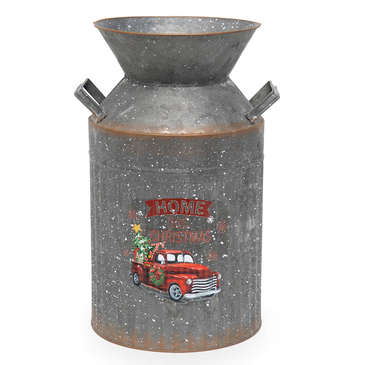 "METAL TRUCK MILK CAN 10""x8""x15"""