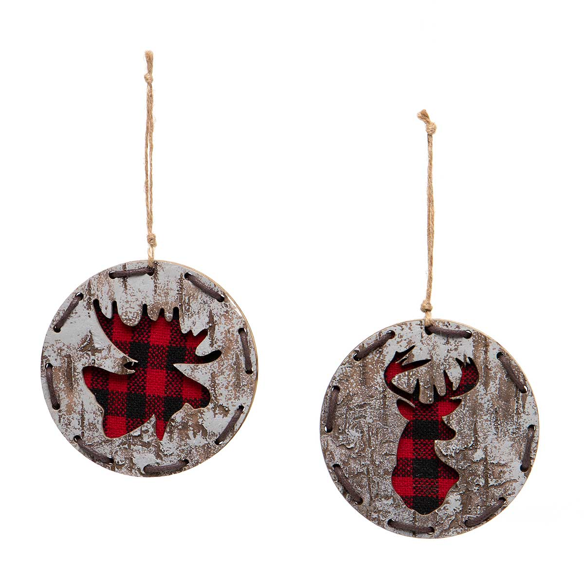 RED/BLACK BUFFALO PLAID DEER &