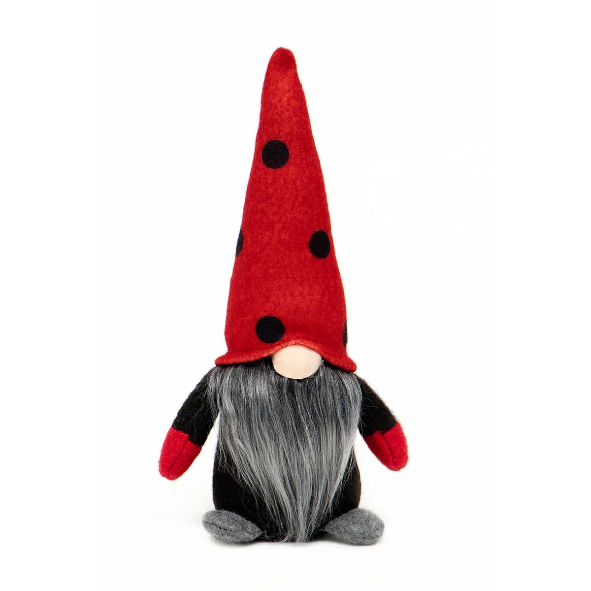 GNOME WITH RED&BK POLKA DOT HAT