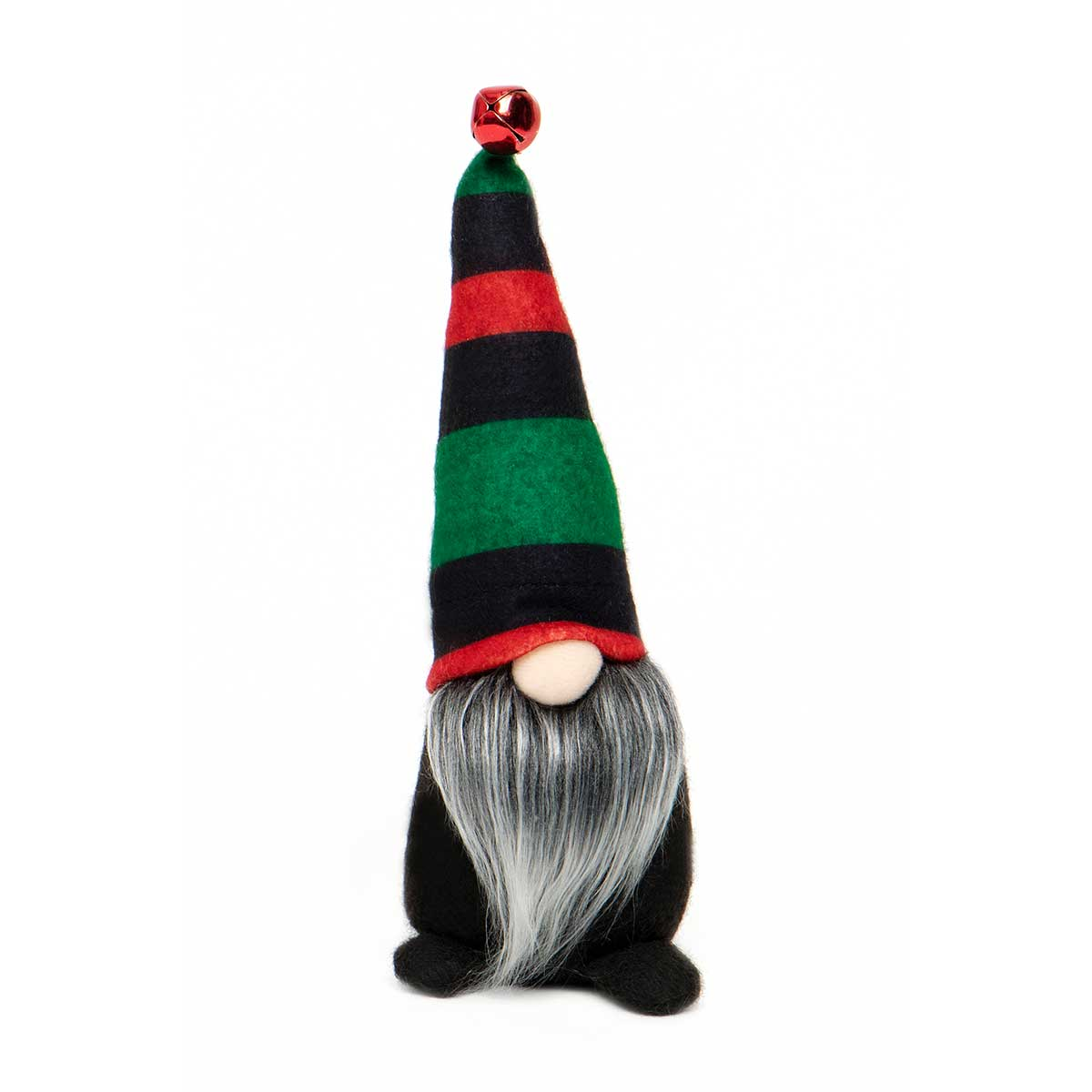 GNOME WITH RED & GREEN STRIPE HAT