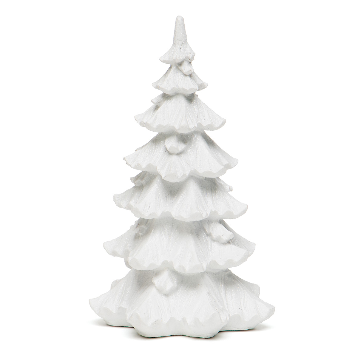 "MINI RESIN TREE WHITE WITH GLITTER/MICA LARGE 4""X7.5"""