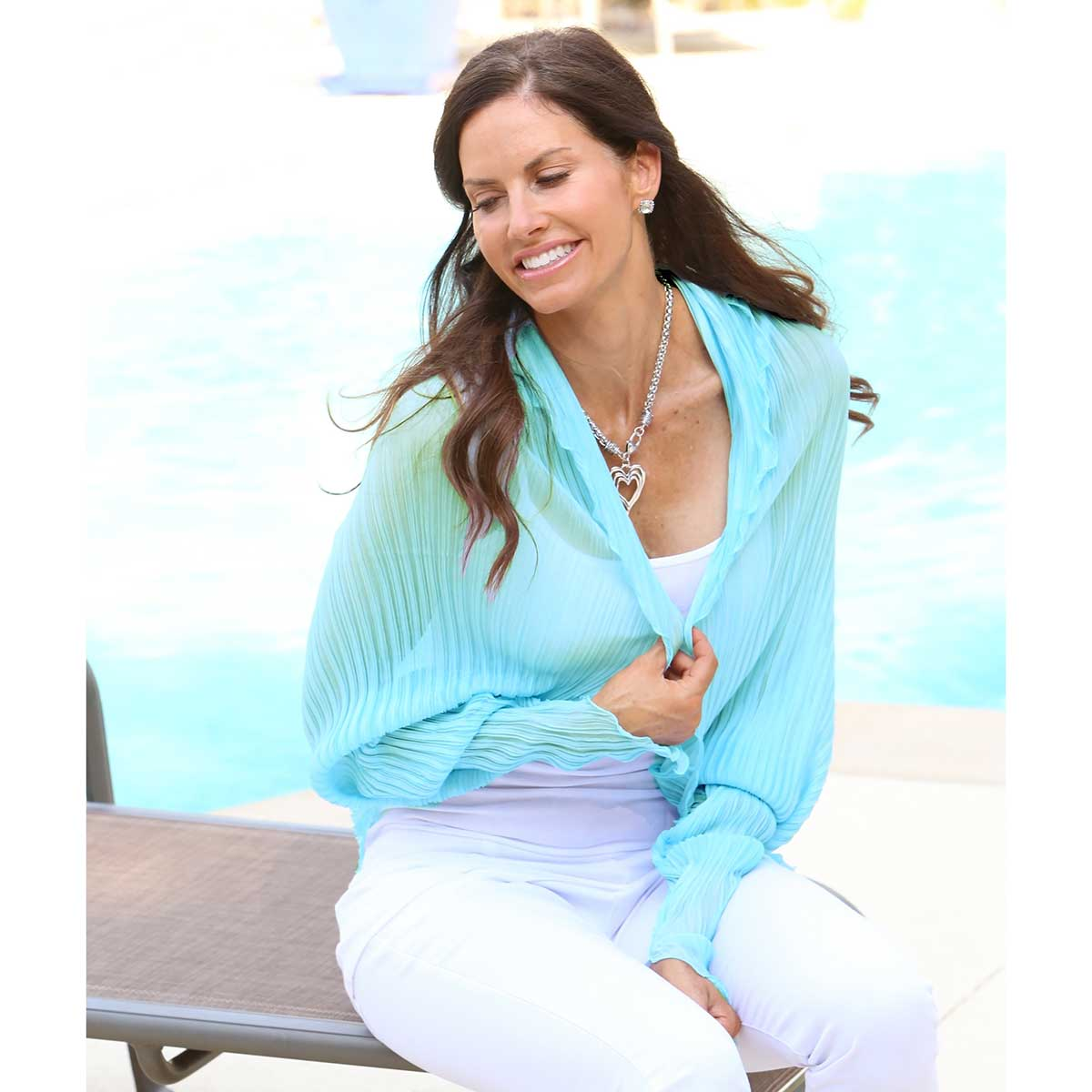 Blue Scallop Shrug Scarf 50sp