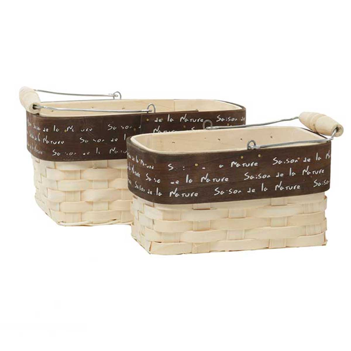 T3125 FRENCH NATURE RECTANGLE BASKET 70sp