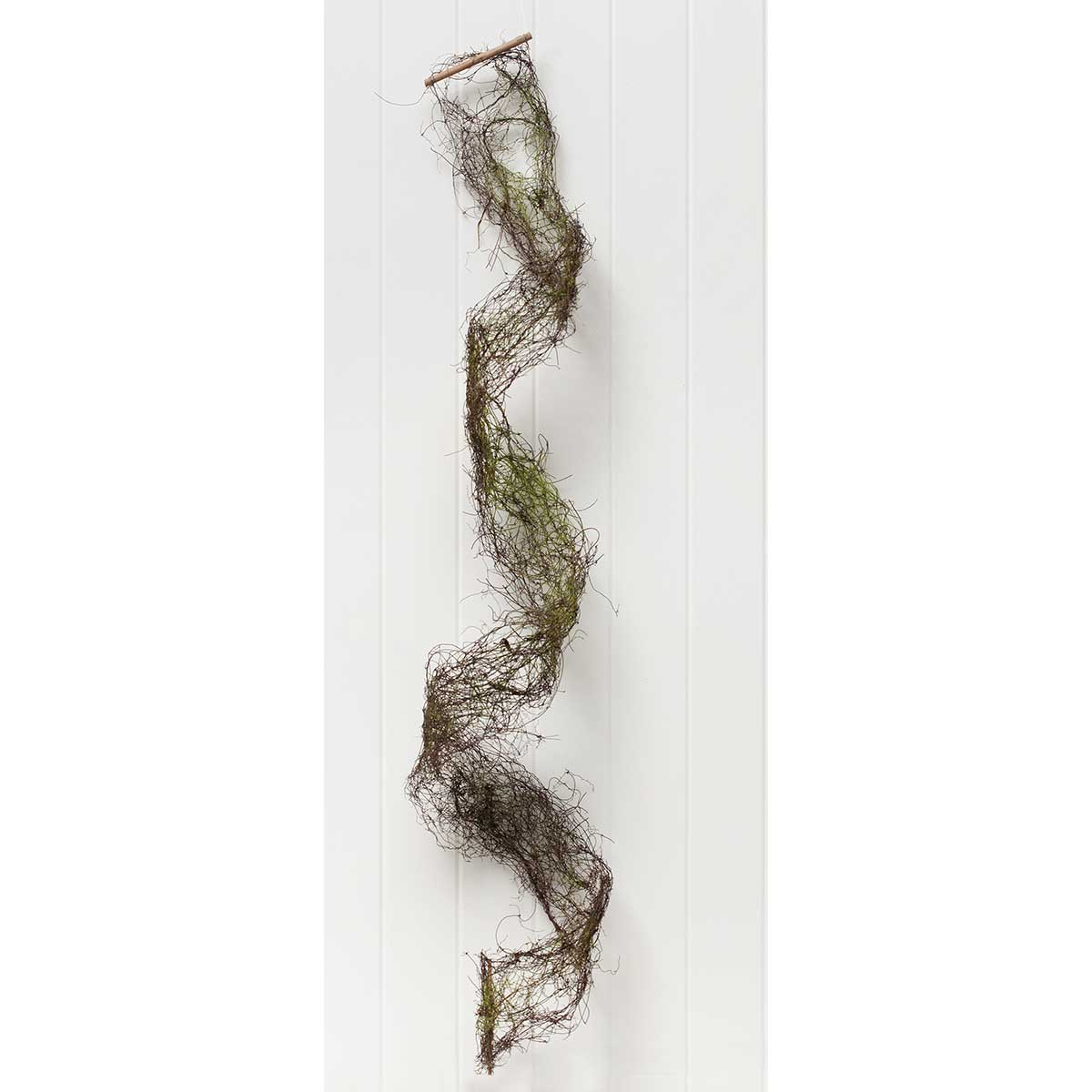 "MOSS AND TWIG RIBBON 4""X5'"