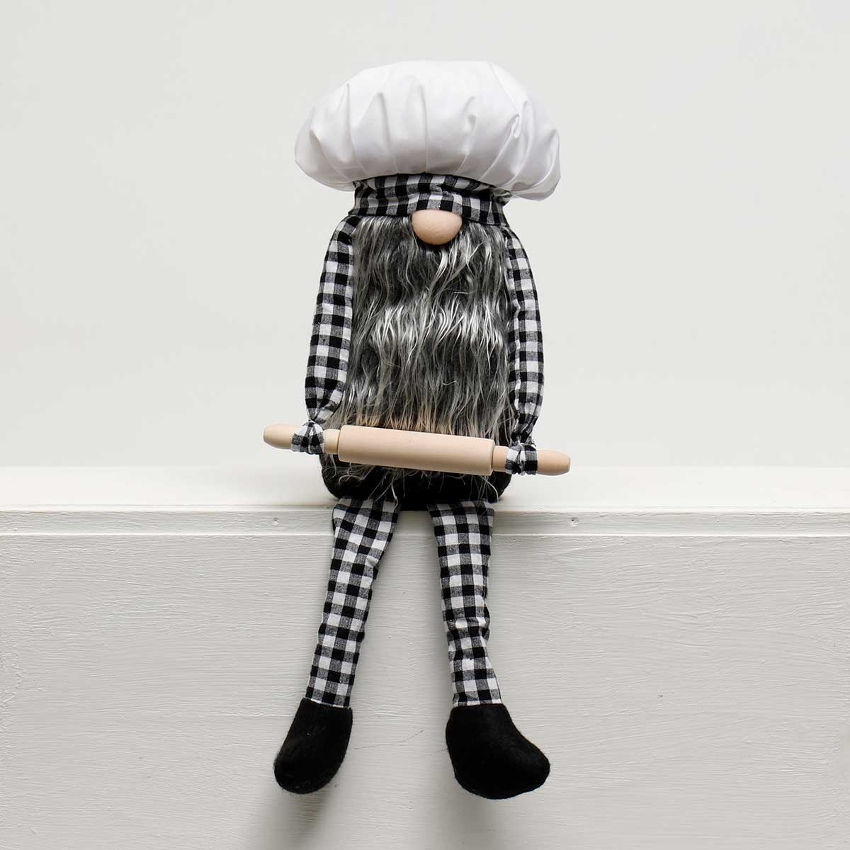 "BAKER GNOME WITH ROLLING PIN 7.75""X4""X20"""