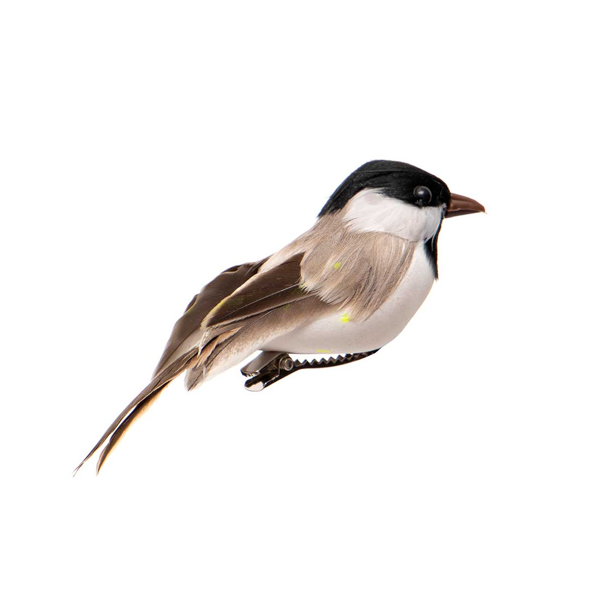 BLACK/GREY/WHITE CHICKADEE WITH CLIP