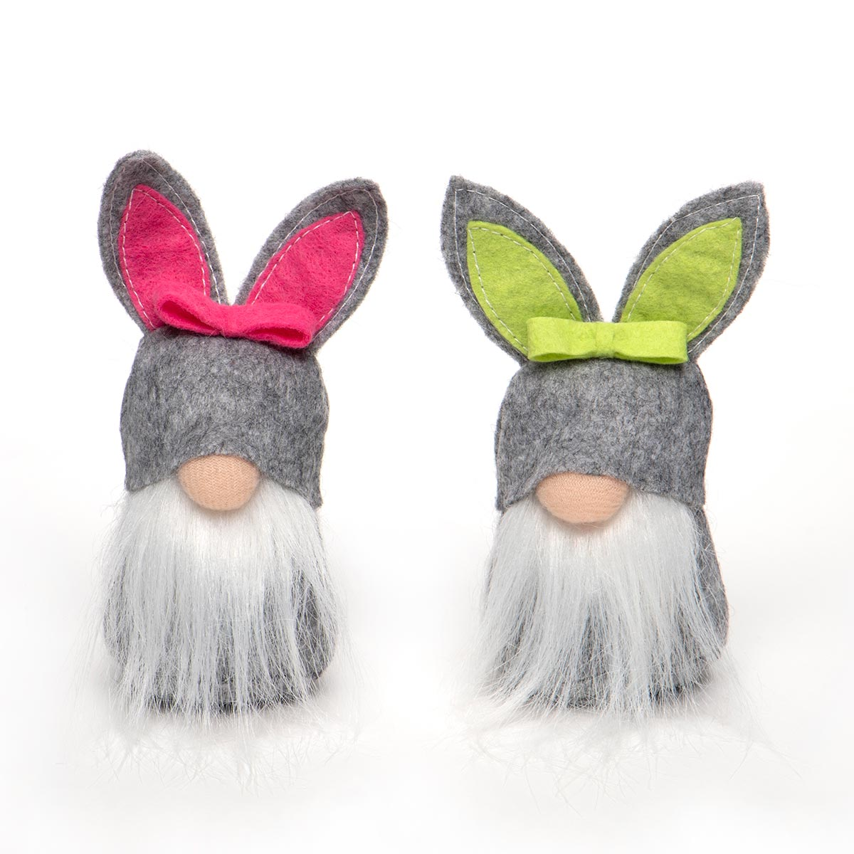 MINI BUNNY GNOME WITH , WHITE BEARD, BUNNY TAIL AND GREY BUNNY H