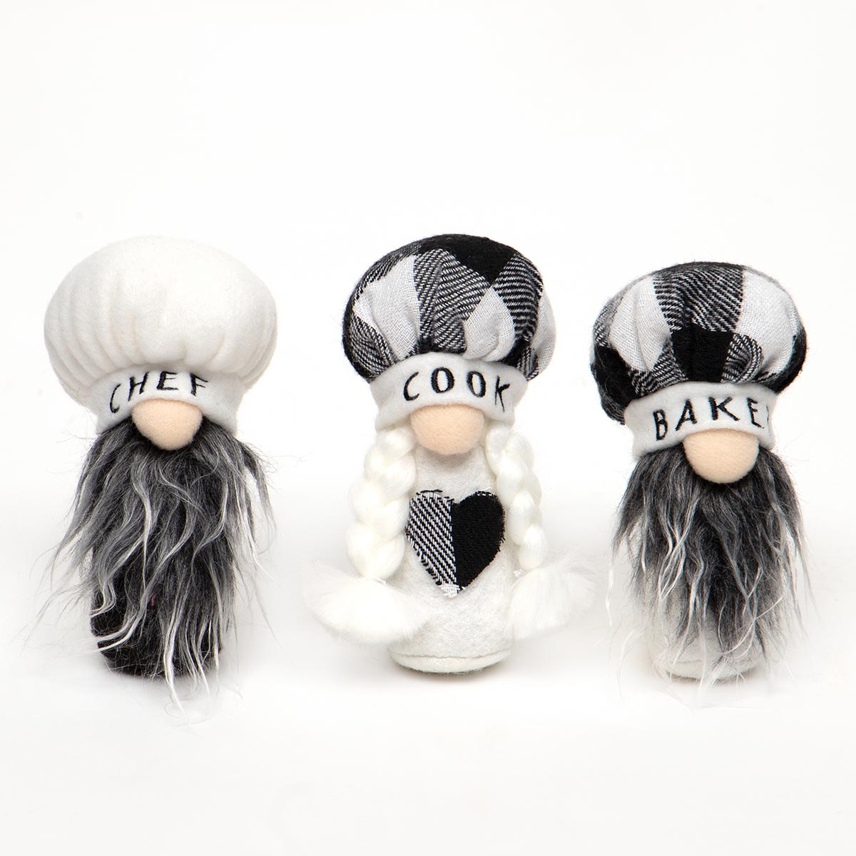 BON APPETIT TRIO GNOME WITH CHEF HAT