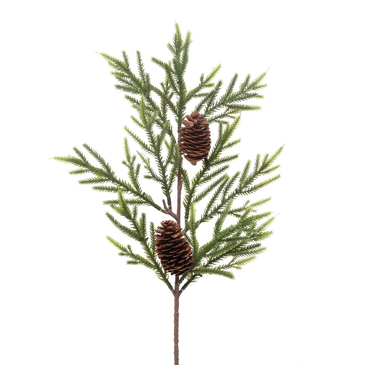 SPINDLE PINE SPRAY WITH PINECONES 19""