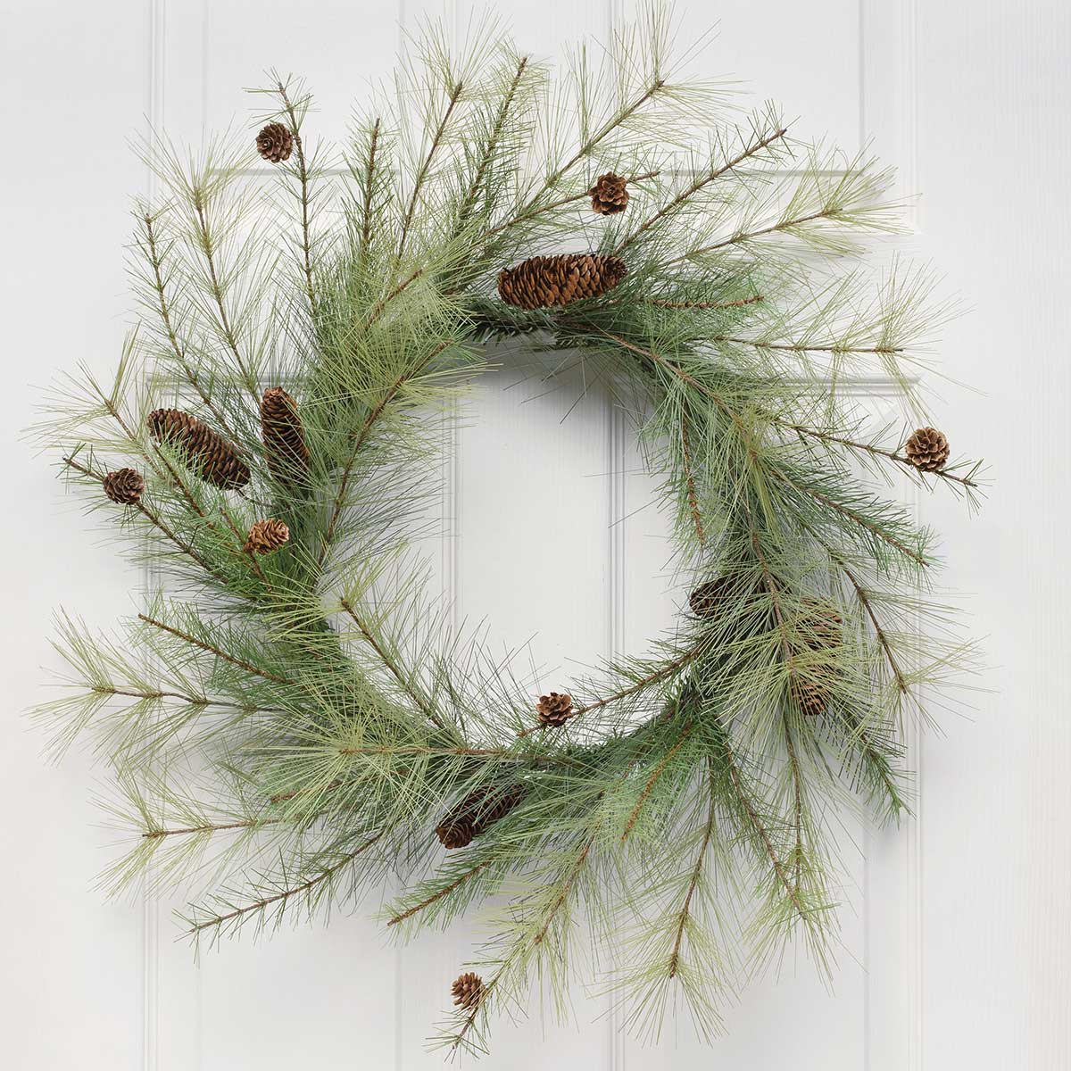 PINE WREATH WITH MINI PINECONES