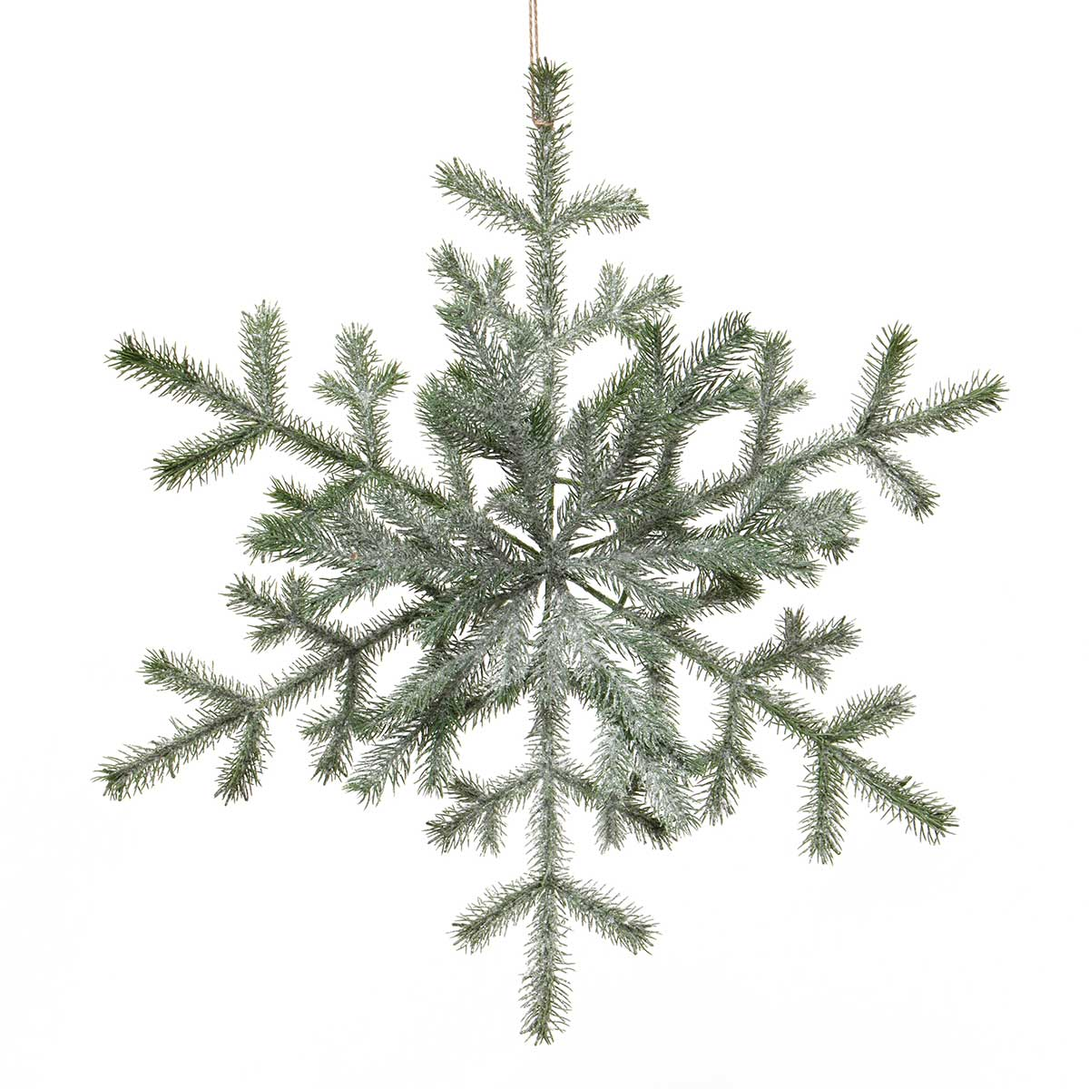 PINE SNOWFLAKE WITH GLITTER, MICA &