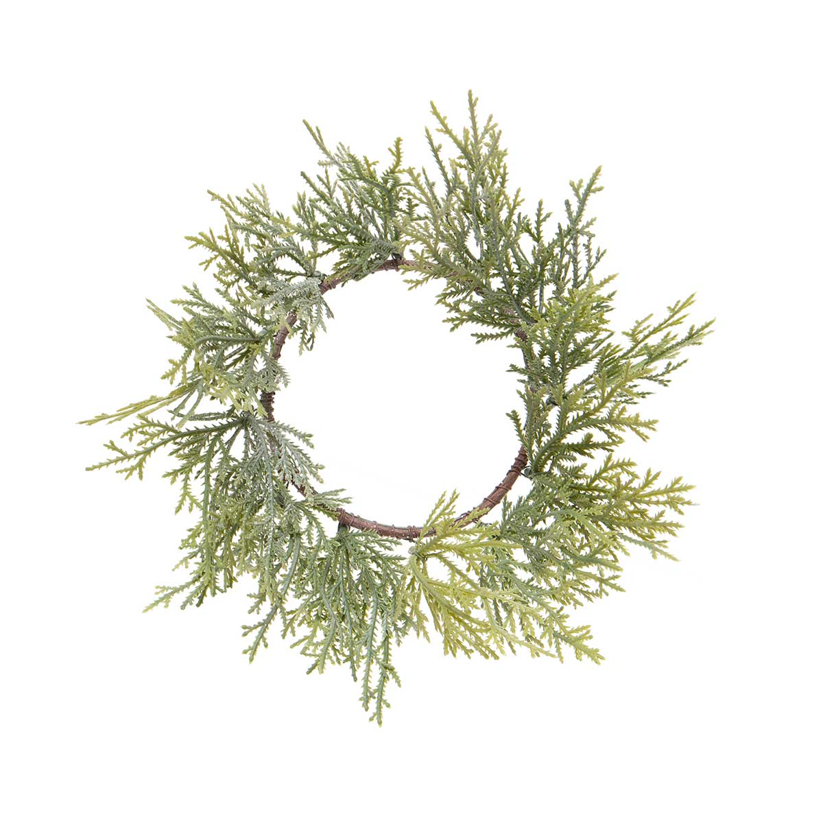 CEDAR PINE MINI WREATH WITH GLITTER