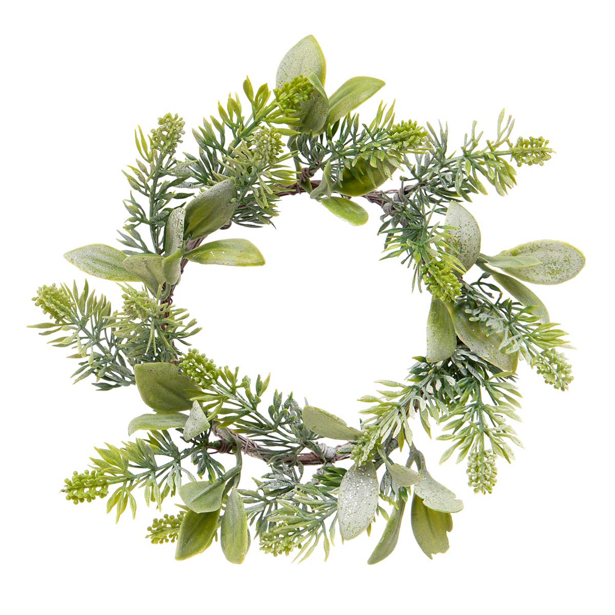 LAUREL PINE WREATH WITH GLITTER