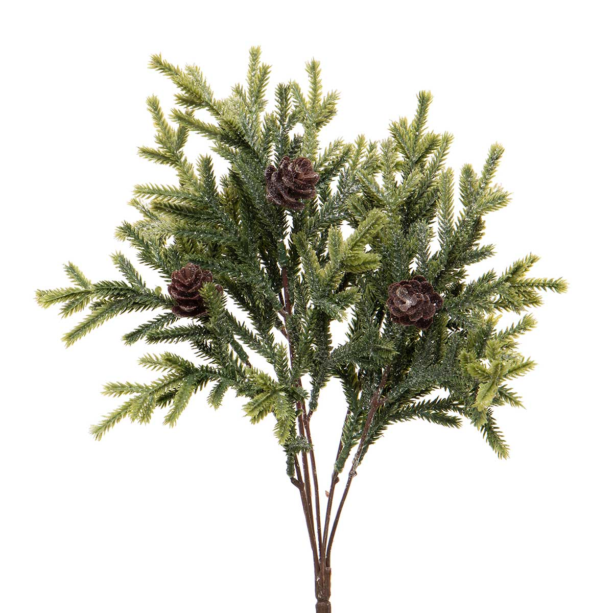 SPARKLE PINE BUSH WITH FAUX