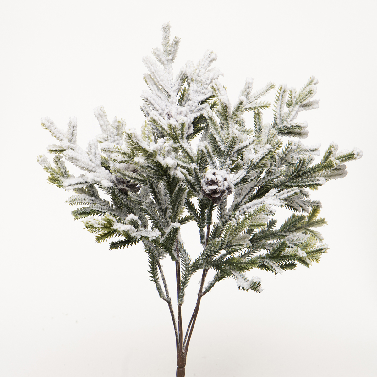 FROSTED PINE BUSH WITH FAUX