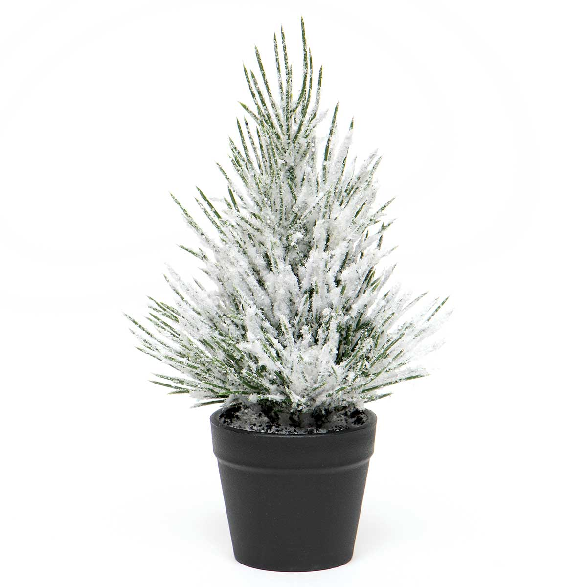 SCOTCH PINE MINI TREE GREEN WITH SNOW AND GLITTER IN